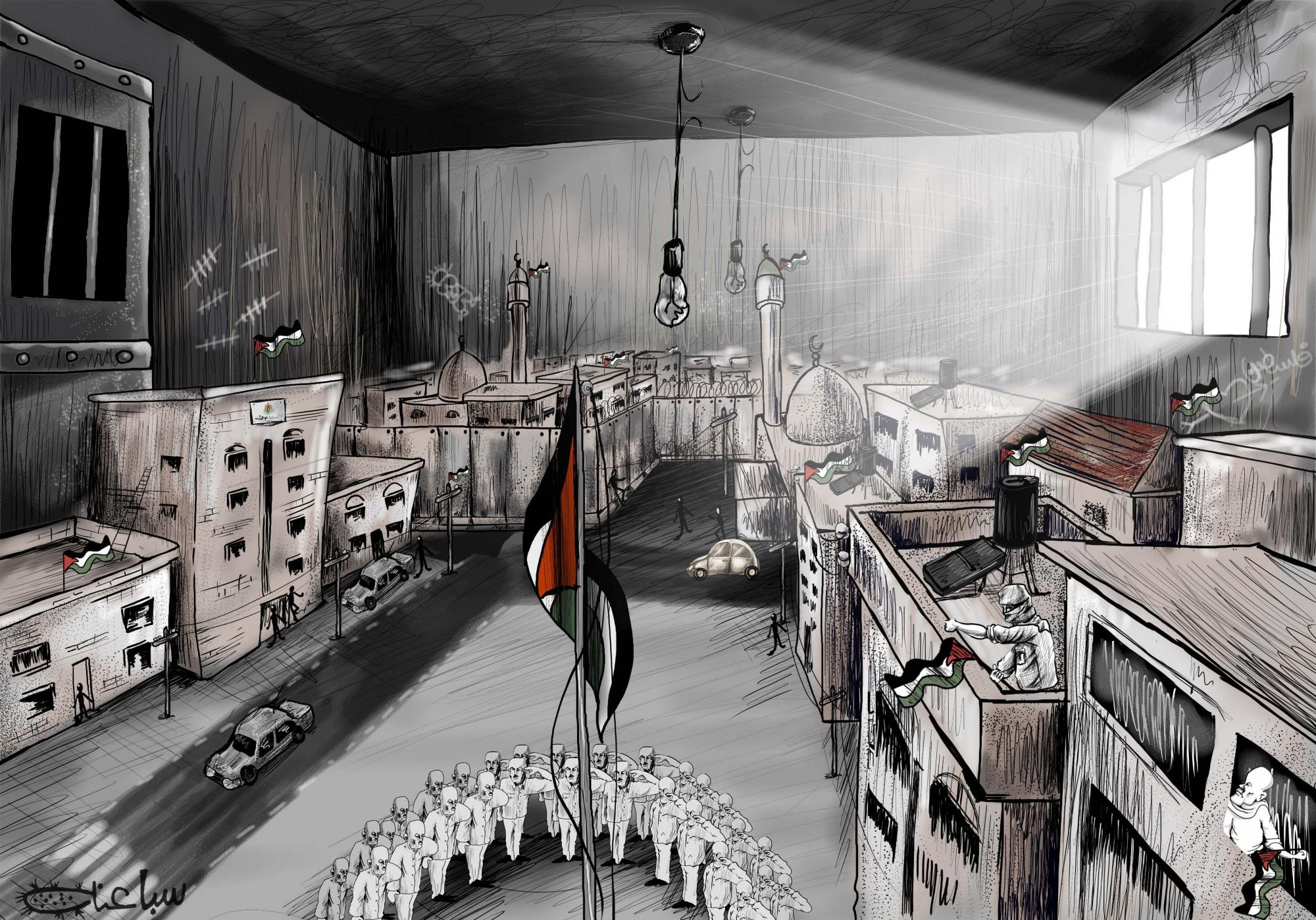 Humor gráfico político en Palestina