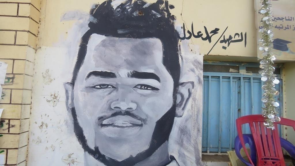 Sudán: el grafiti resucita entre los suyos a los mártires de la revolución