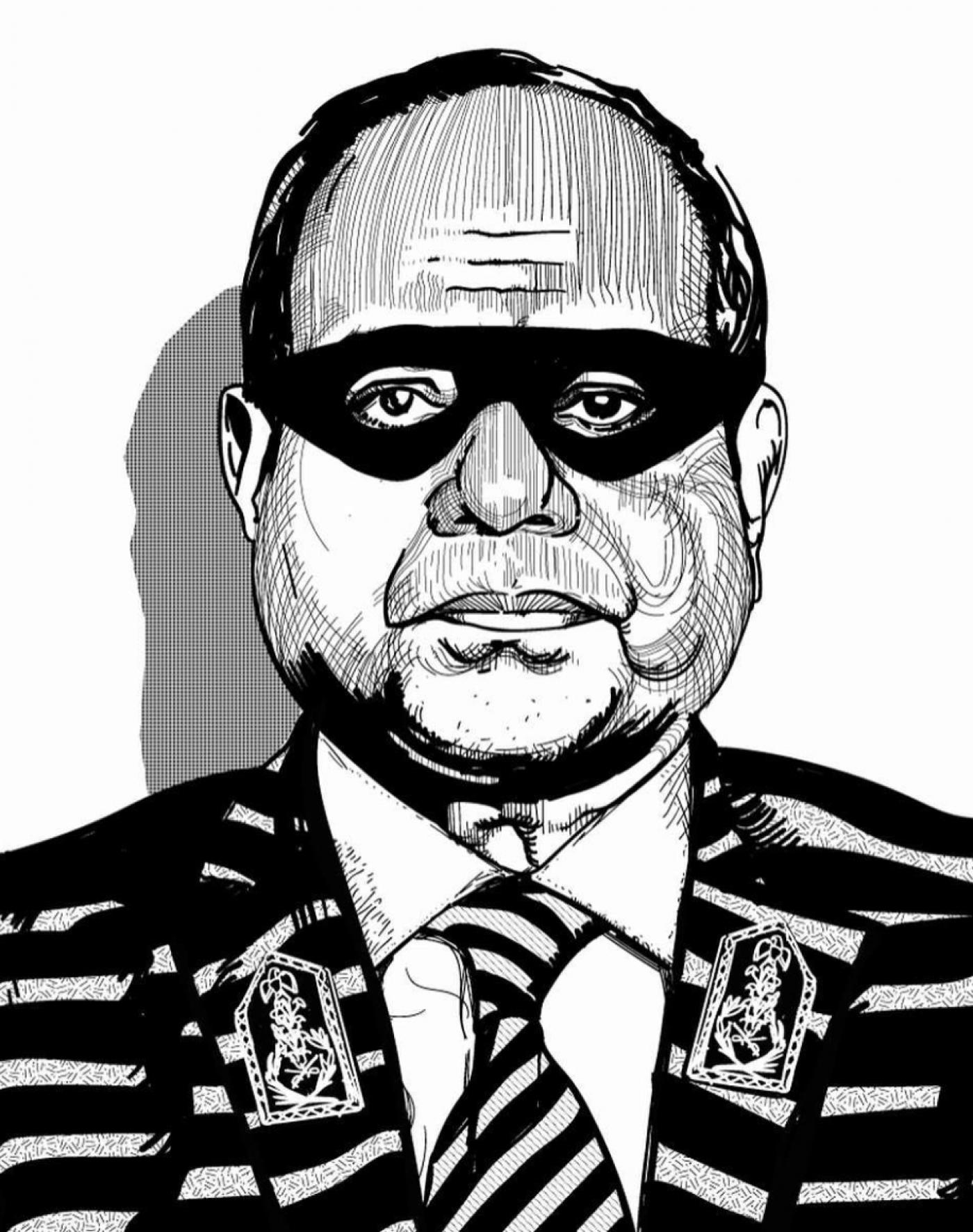 Las protestas en Egipto: cómo una caricatura de Al Sisi caracterizado de ladrón se convierte en la cara del movimiento