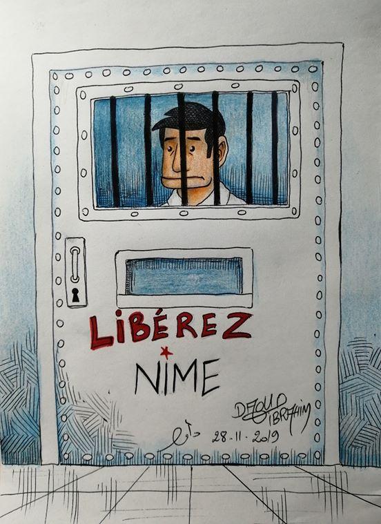Liberad a Nime Viñeta de Ibrahim Daoud