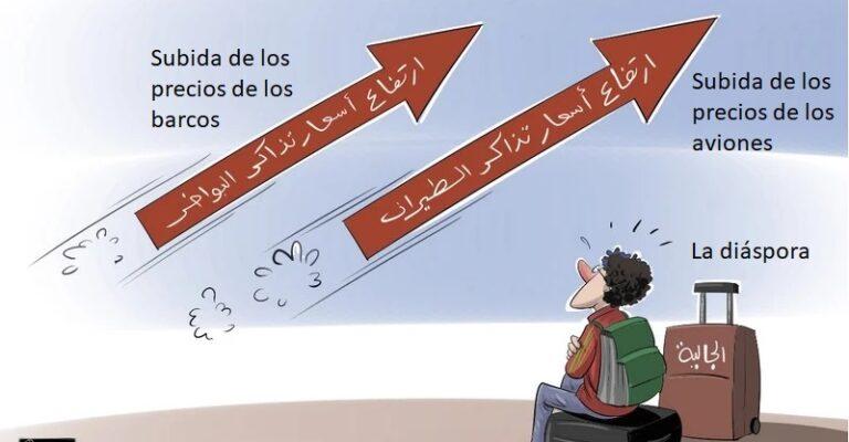 Las diásporas árabes ante la subida de los precios de los billetes