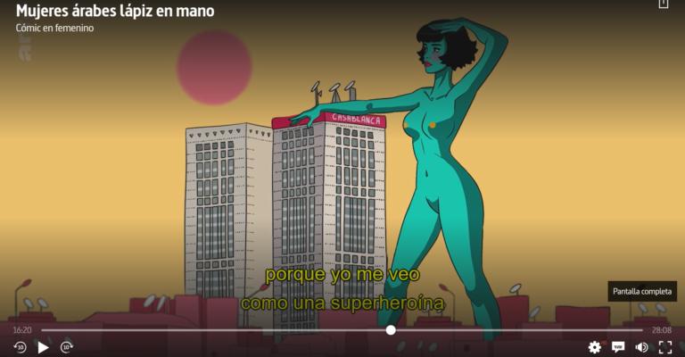 Cómic en femenino; un documental sobre 4 mujeres árabes dibujantes de comic